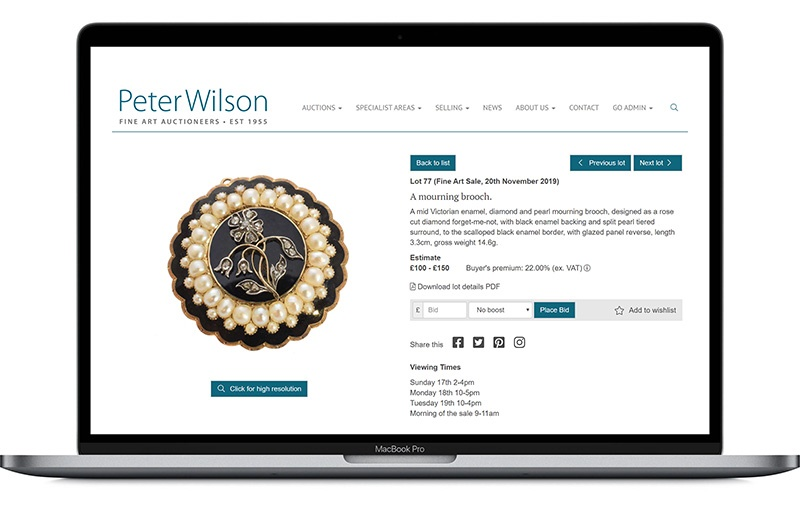 WilsonLive - live bidding
