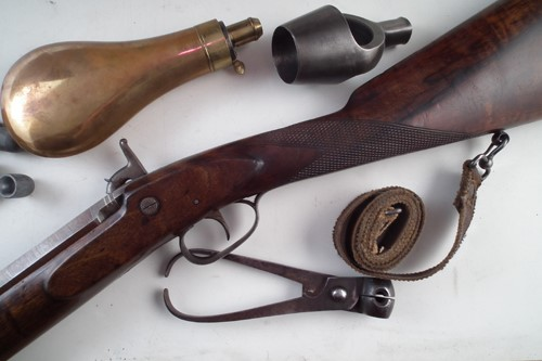 Joseph Bourne Percussion rifle 28th March Arms Militaria Auction