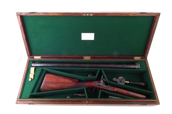 Arthur Smith 4 bore rifle in case