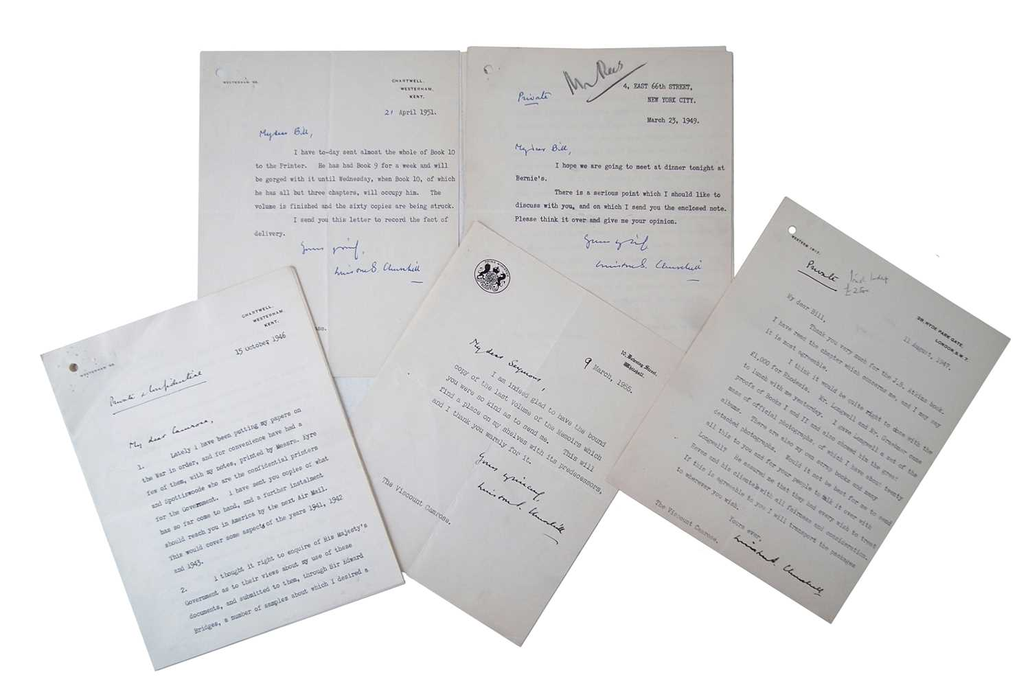 Winston Churchill album of autographed letters