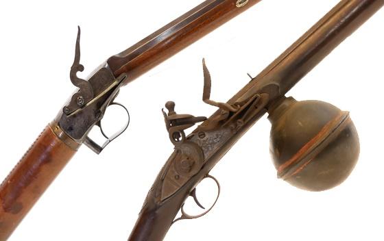 18th and 19th century air guns,