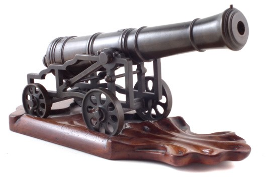 19th century bronze signal cannon sold £1,200