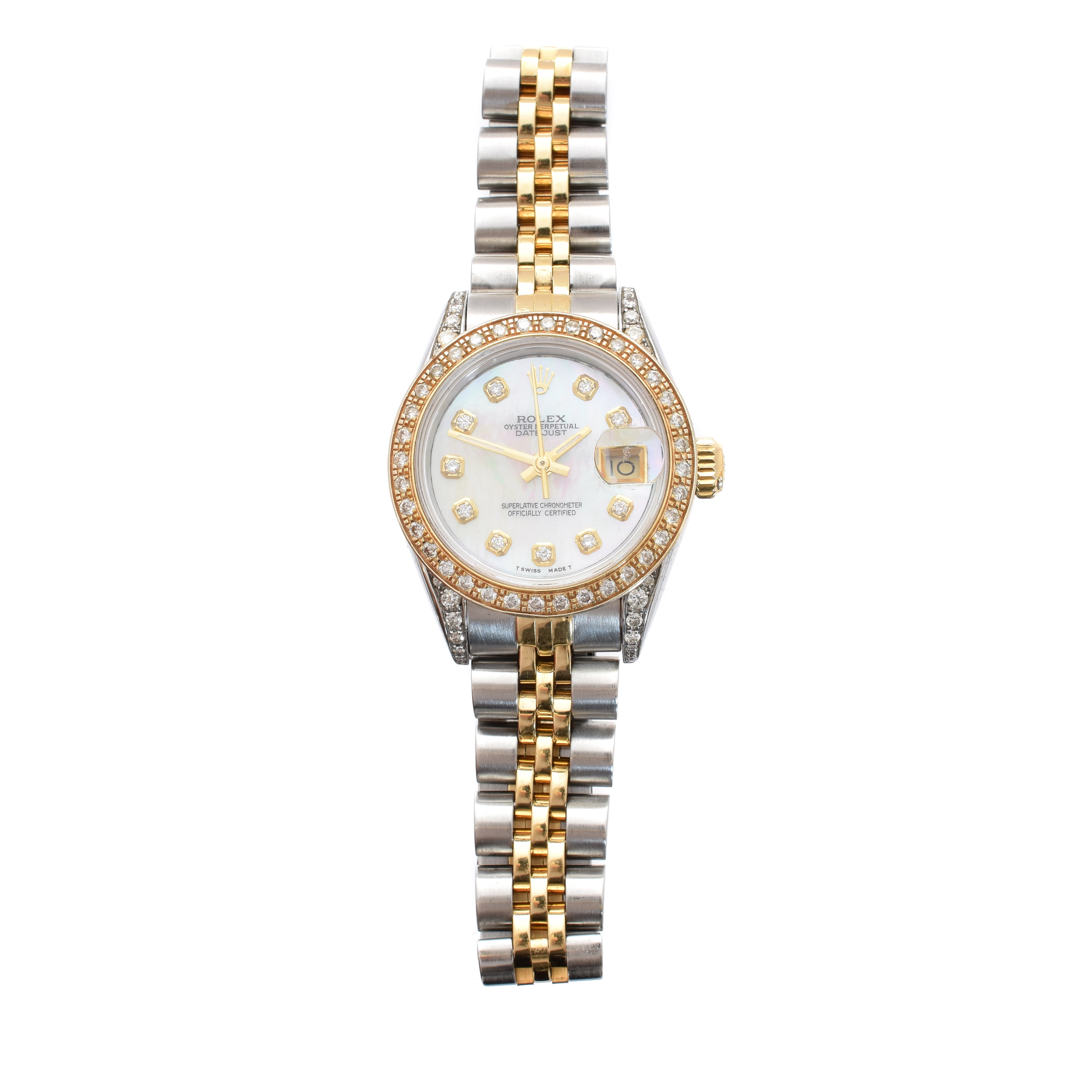 A ladies steel and gold Rolex Oyster Perpetual Datejust wristwatch, circa 1987, sold for £2,500