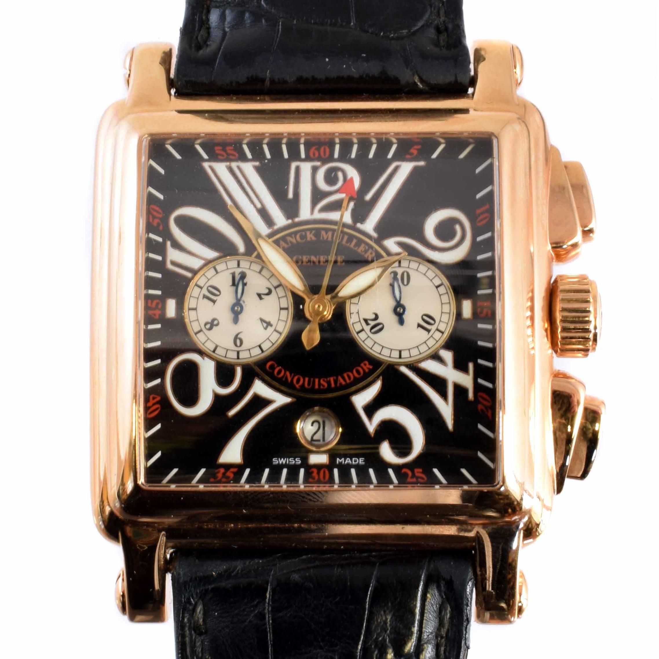 An 18ct gold Franck Muller Conquistador Cortez wristwatch,