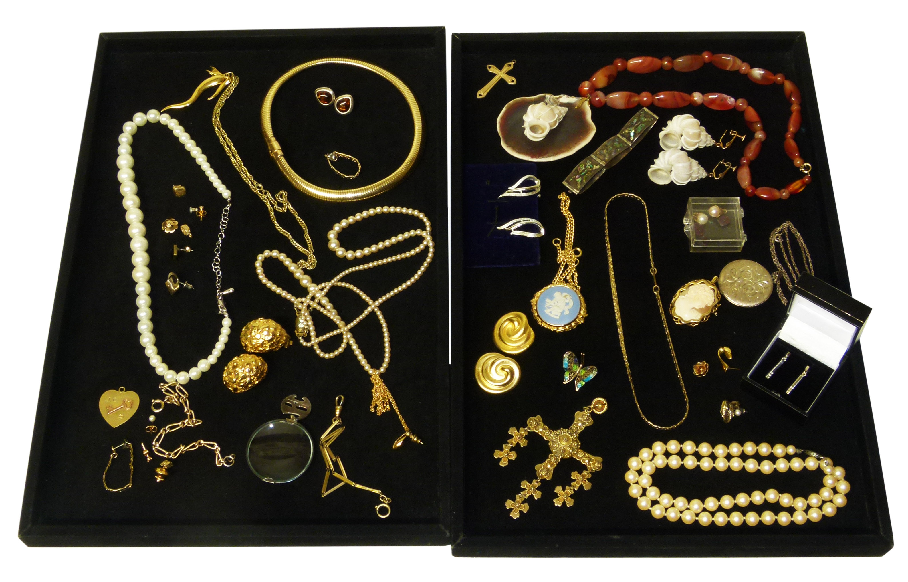 A selection of fine and costume jewellery