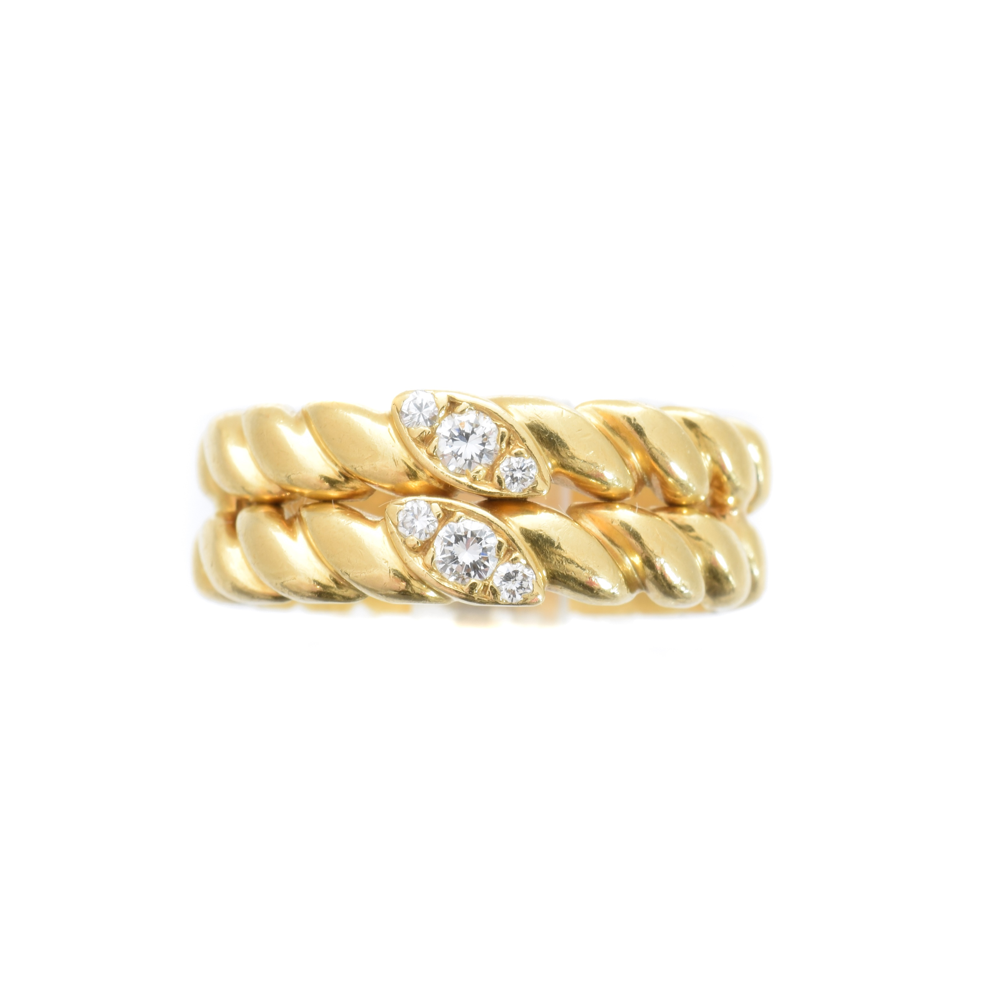 An 18ct gold diamond band ring by Van Cleef & Arpels,
