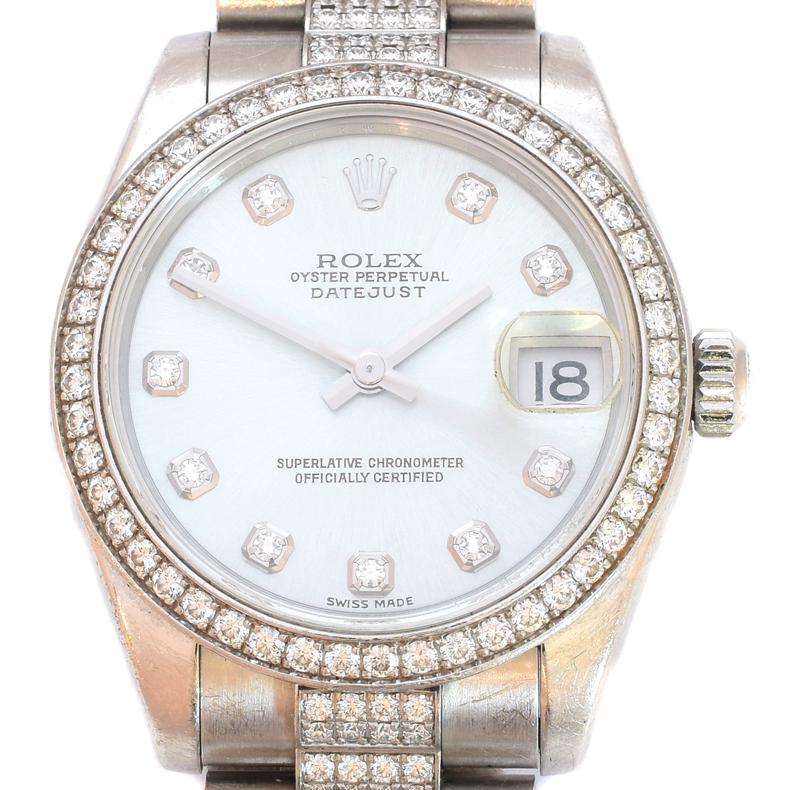 Platinum and Diamond Ladies Rolex