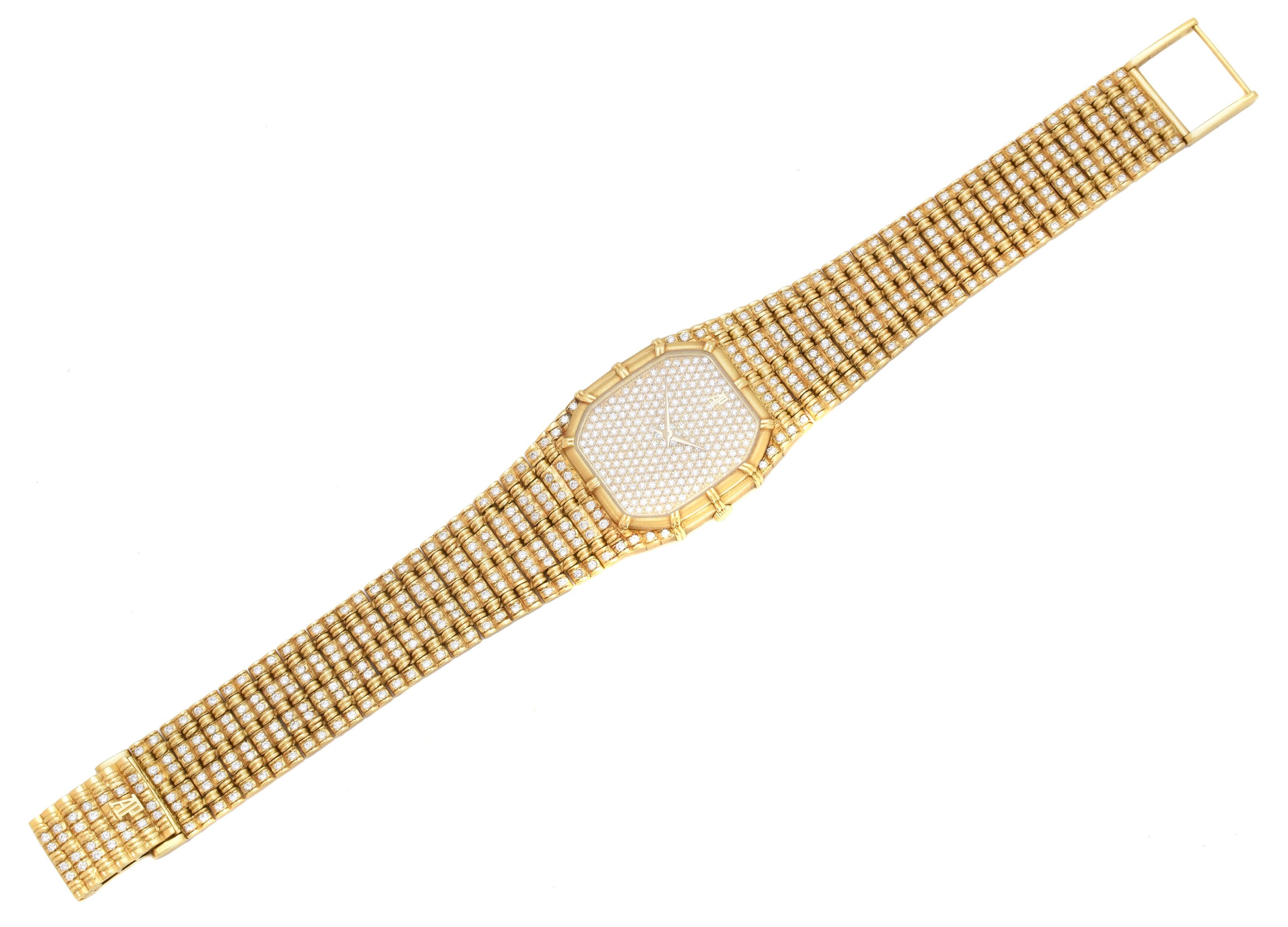An 18ct gold diamond Audemars Piguet wristwatch, ref C12337