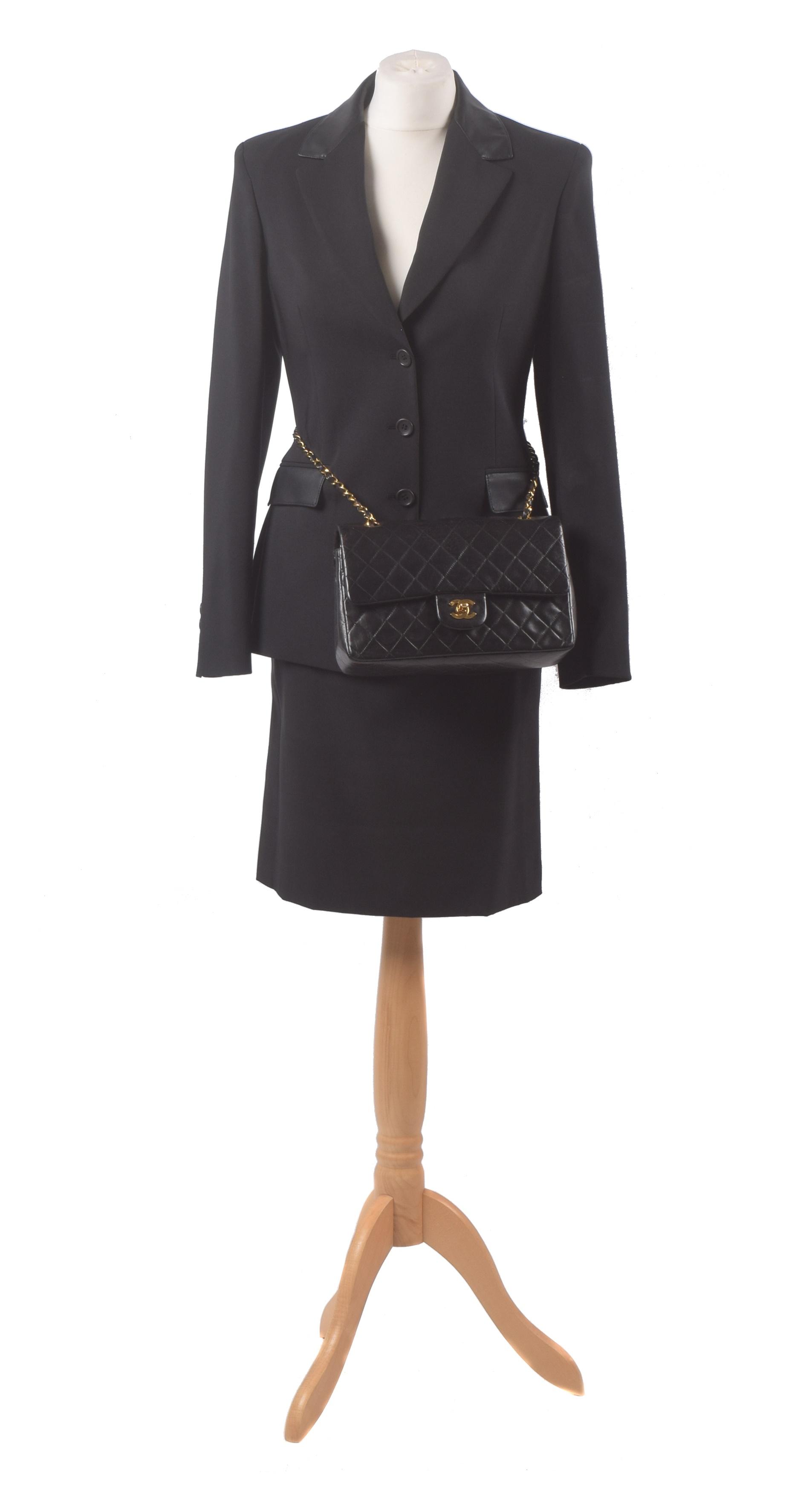 Chanel Double Flap Bag, Versace Suit