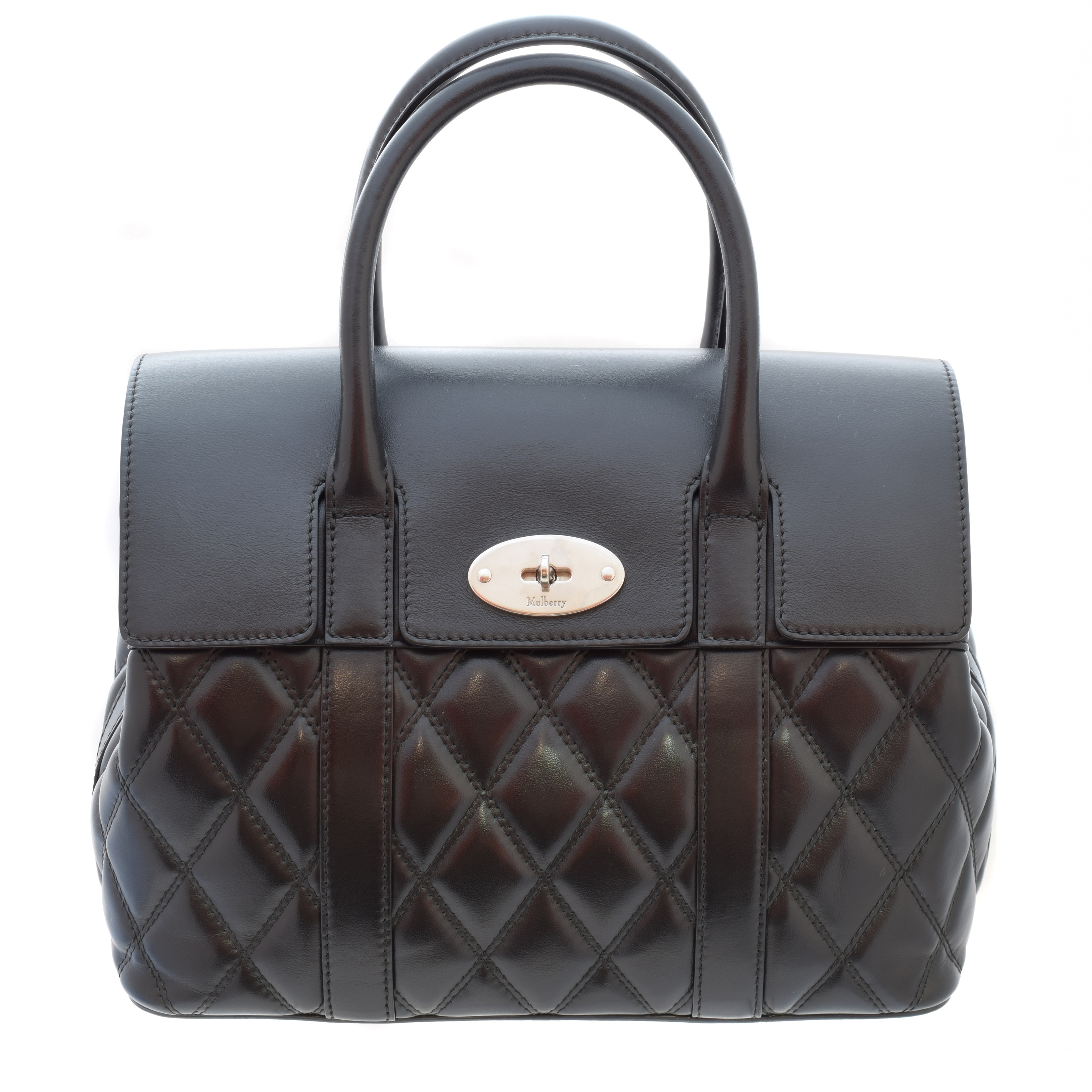 Mulberry Small Bayswater - Black Quilted Leather