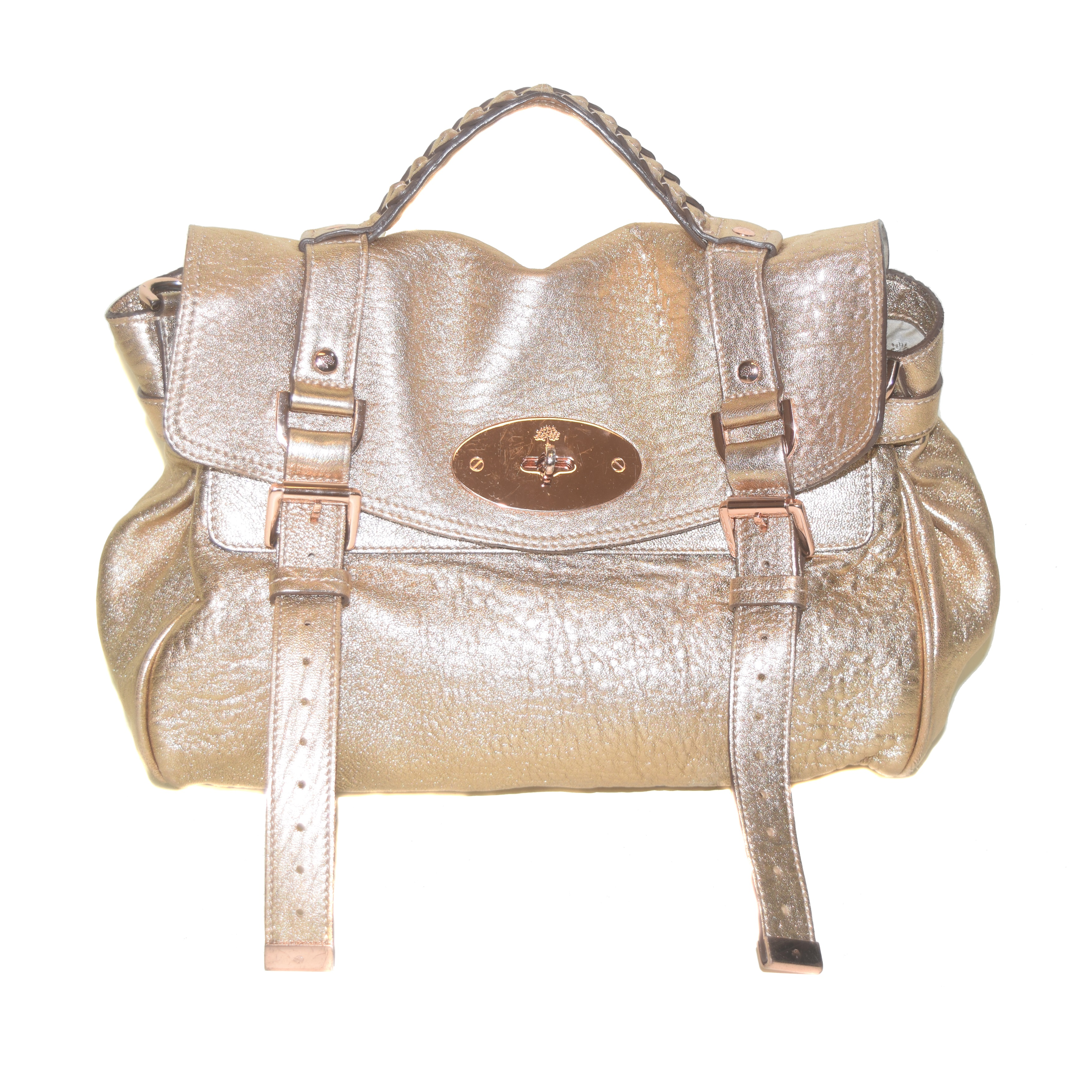 Mulberry Alexa Champagne Leather