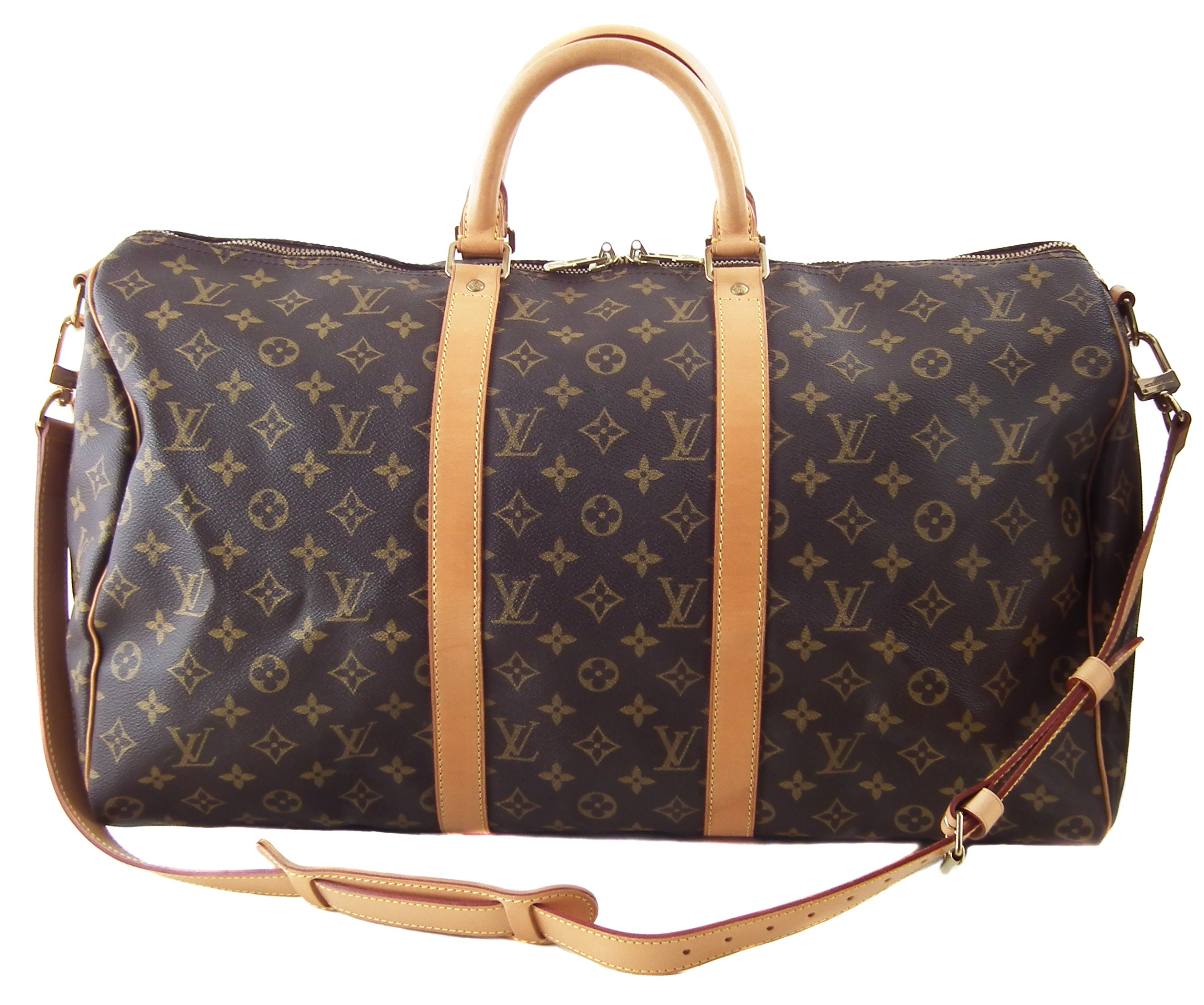 A Louis Vuitton monogram Keepall Bandoulière 50 luggage bag,