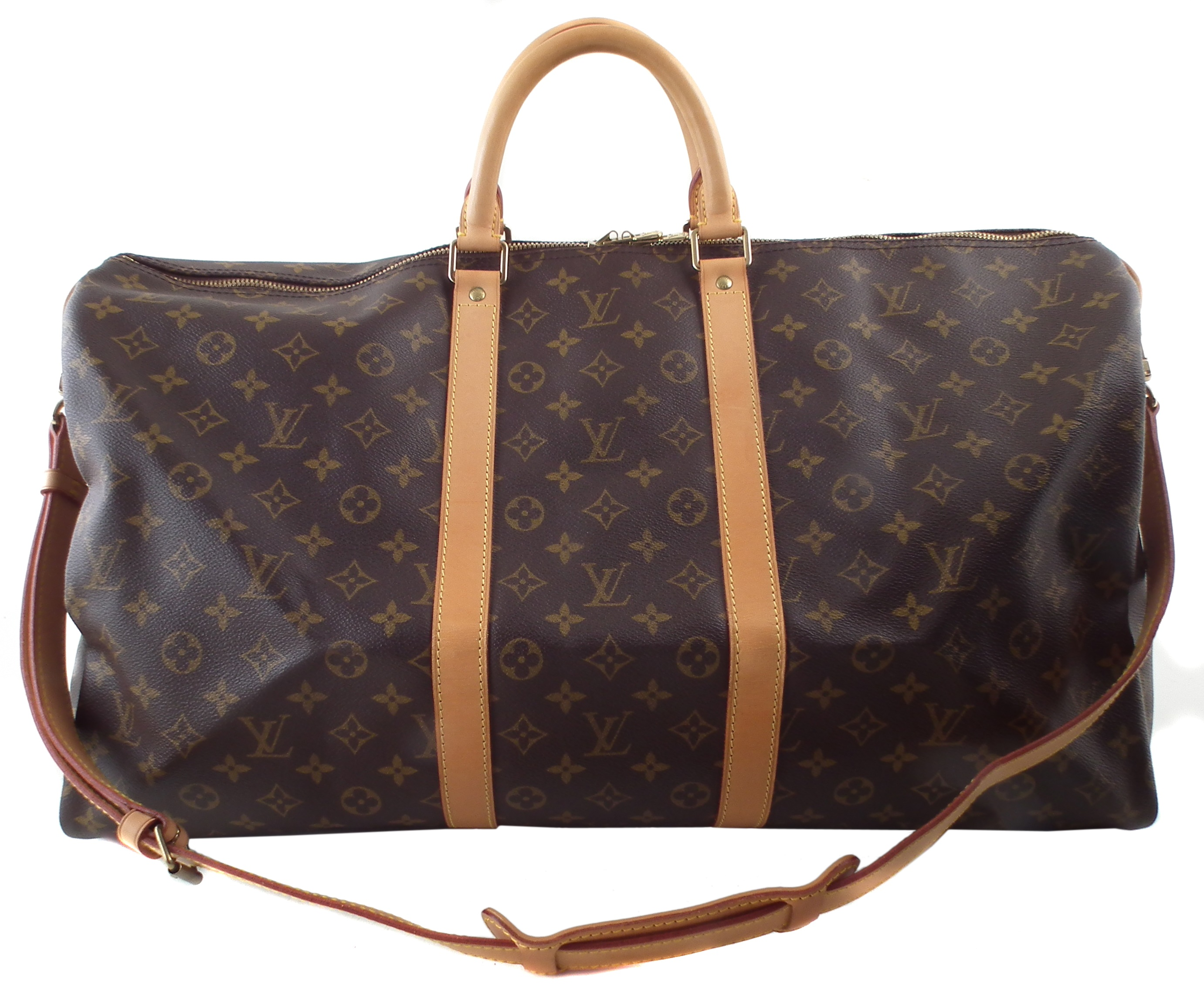 A Louis Vuitton monogram Keepall Bandoulière 55 luggage bag,