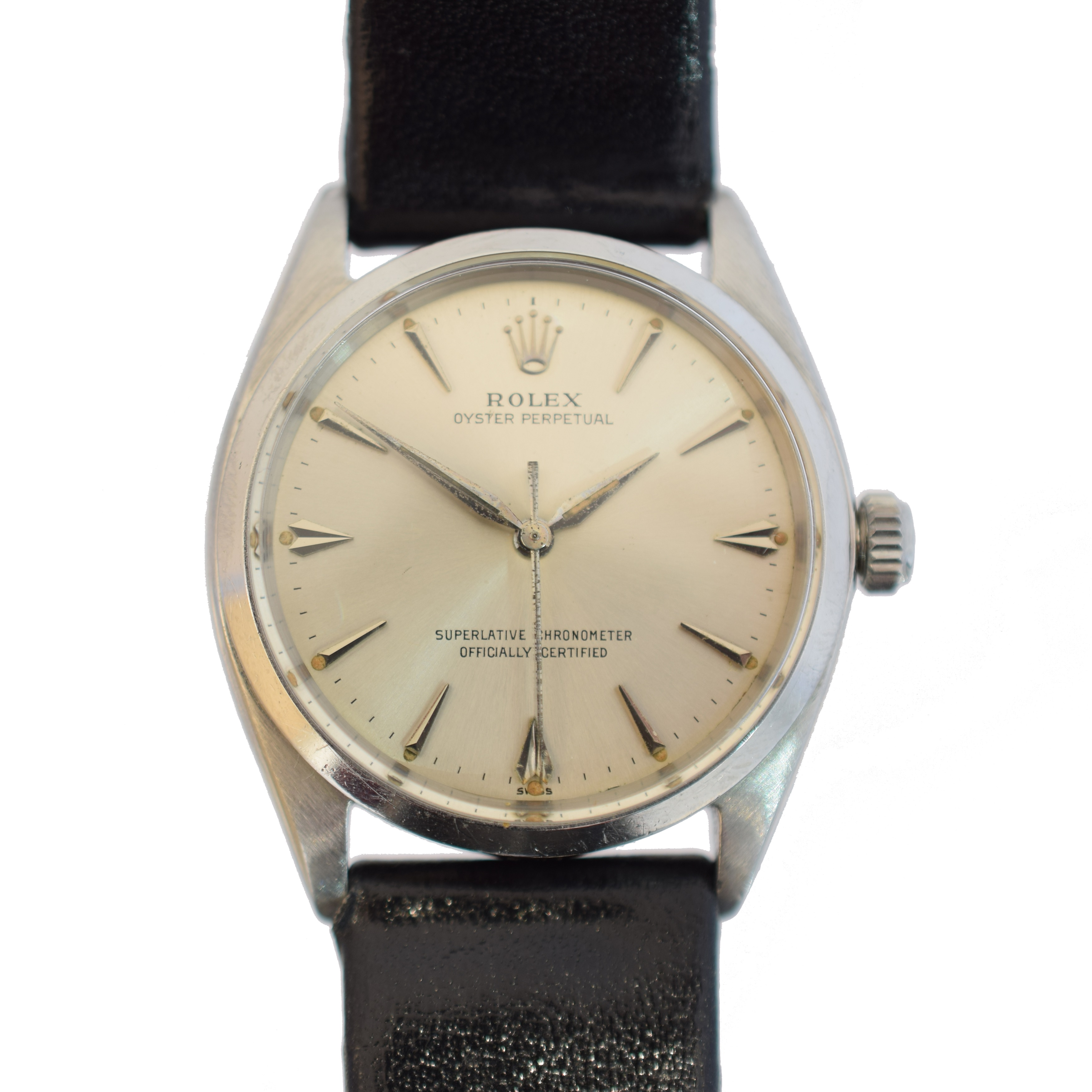 A 1960s stainless steel Rolex Oyster Perpetual wristwatch,circa 1962, sold for £2,318.