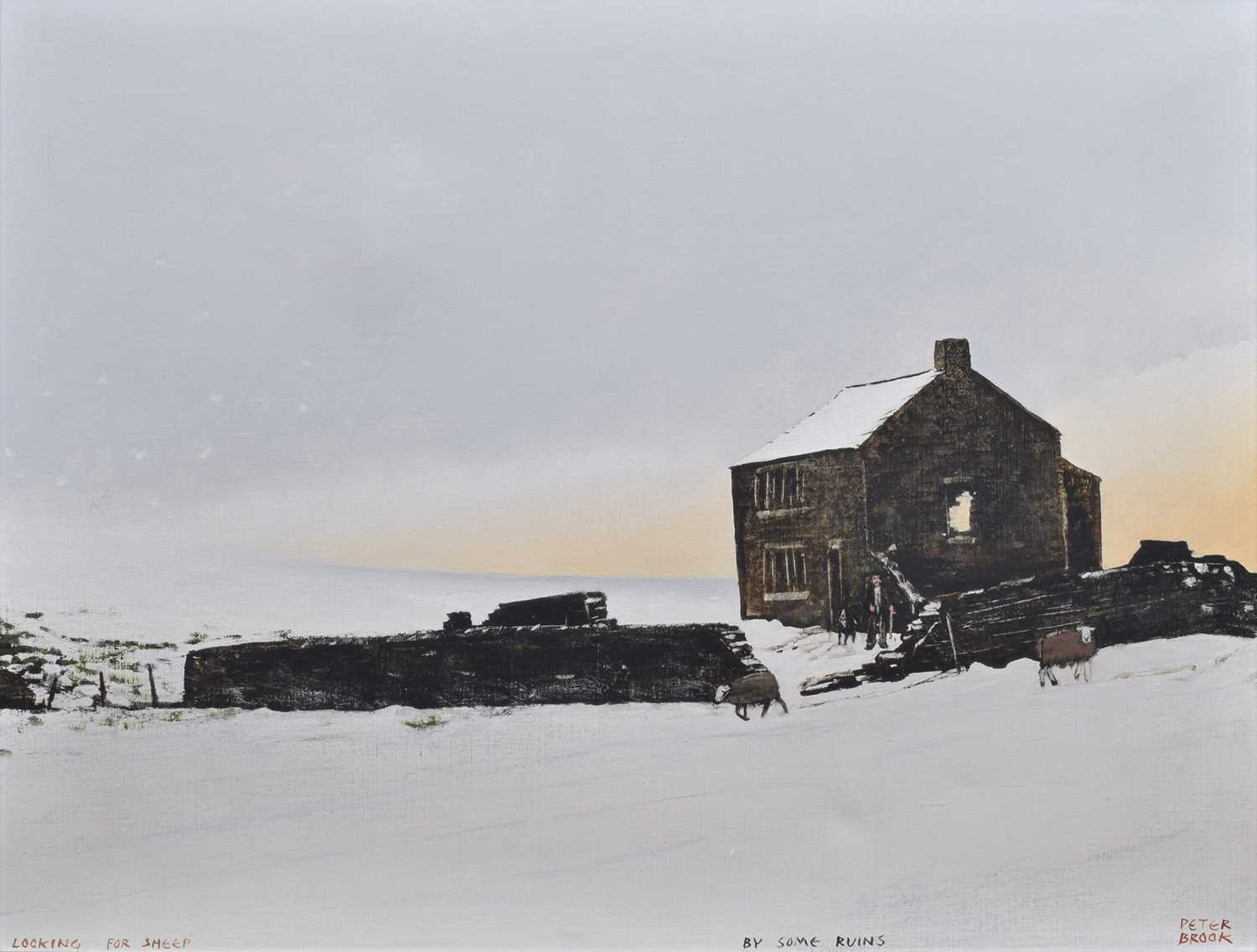 peter brook painting looking for sheep