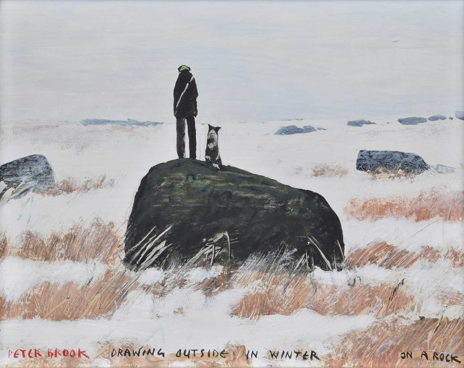 peter brook painting drawing in winter