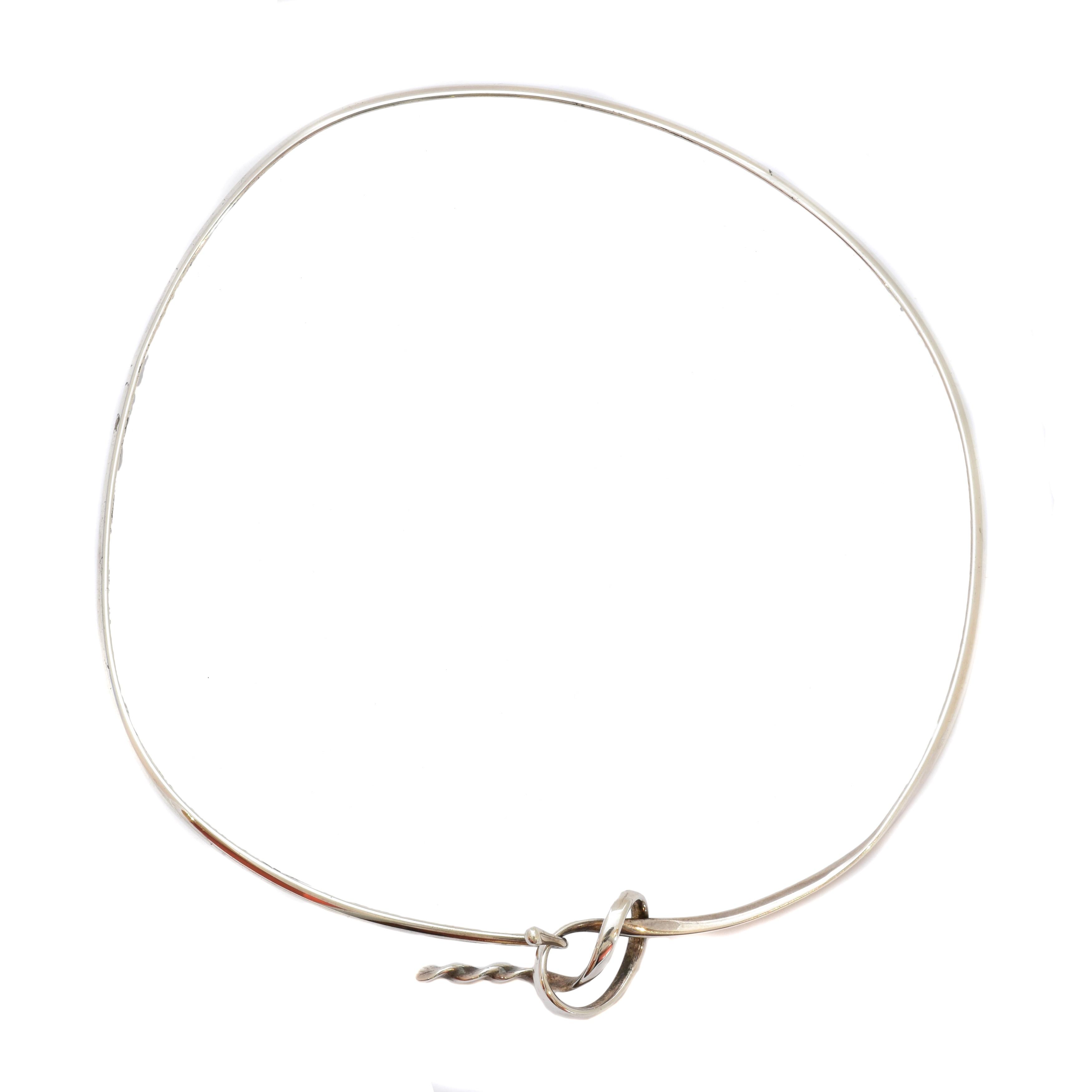 A Georg Jensen 'Forget me Knot' collar, no. 241, designed by Vivianna Torun Bülow-Hübe for Georg Jensen,