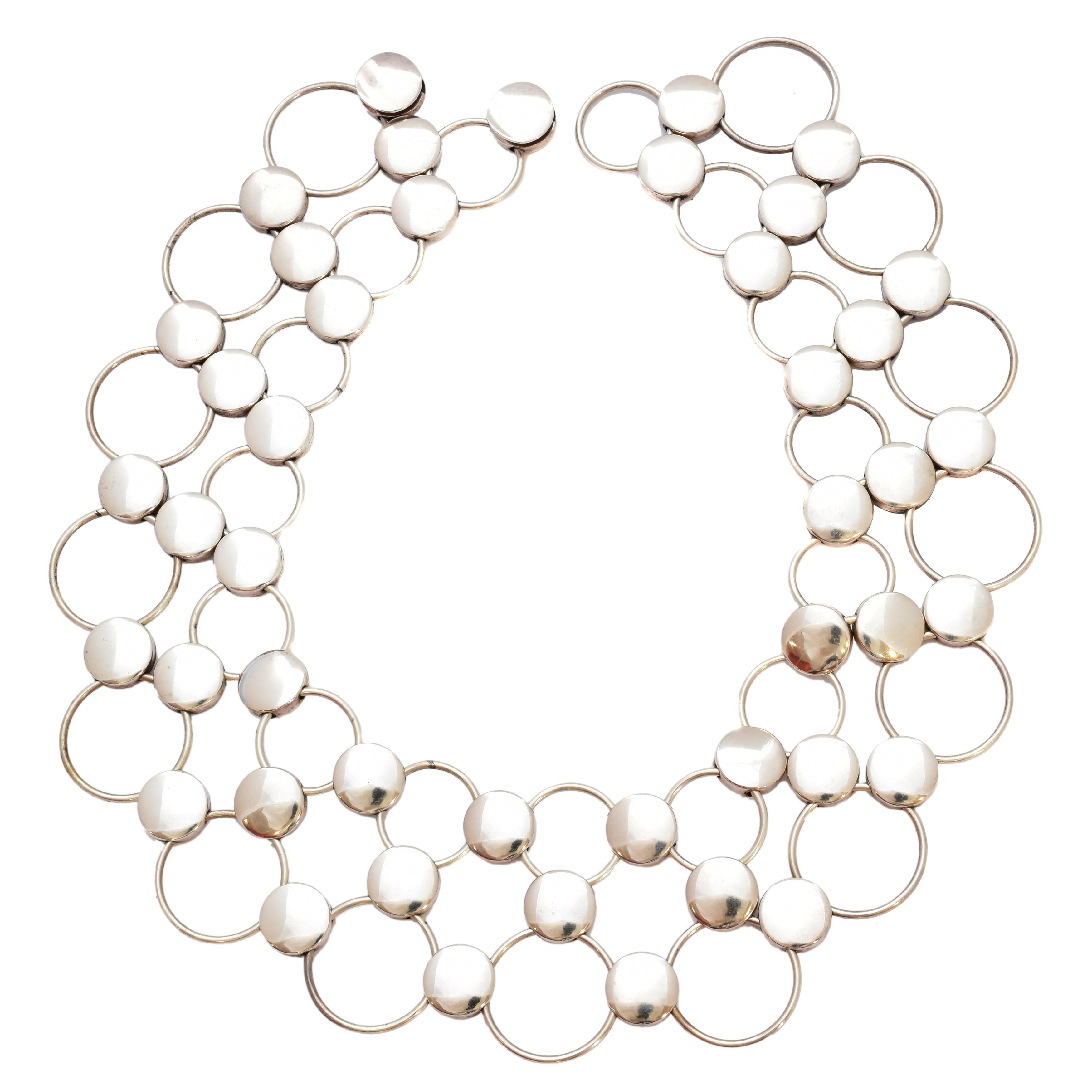 A Georg Jensen collar, pattern no. 464, designed by Regitze Overgaard for Georg Jensen,