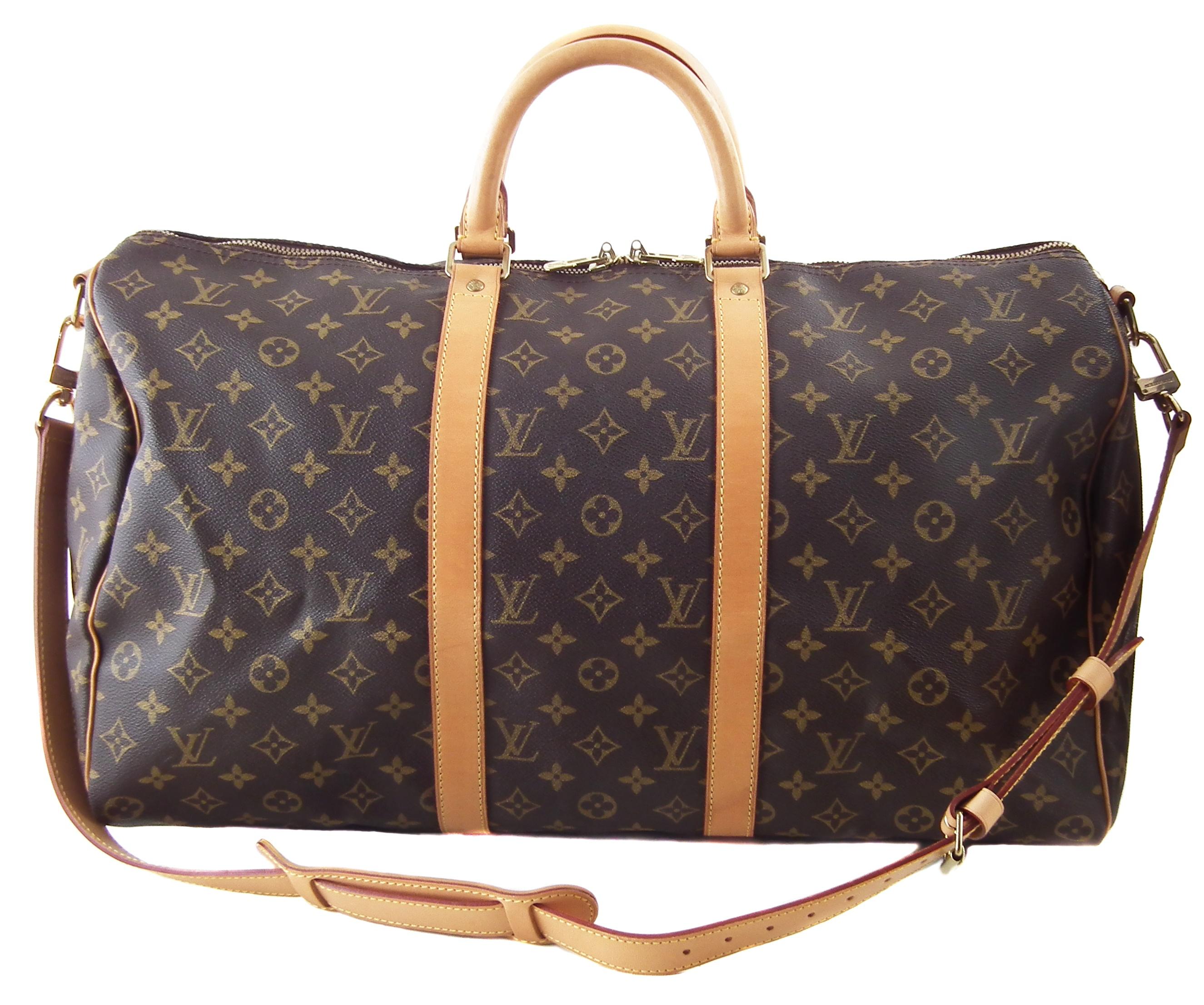 A Louis Vuitton monogram Keepall Bandoulière 50 luggage bag