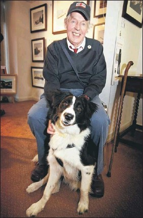 peter brook and his dog shep
