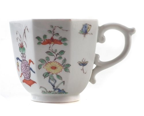 209 - Worcester octagonal coffee cup circa 1753-55