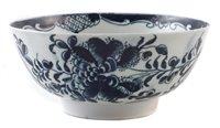 Lot 186-Lowestoft bowl circa 1775
