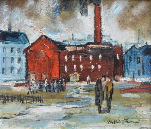 "253 - William Turner, ""Factory, Regent Street, Salford"", oil."