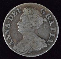 Lot 34-Queen Anne, Threepence, 1713.
