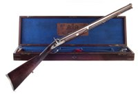 Lot 20-Joseph Bourne percussion rifle with a period case and accessories