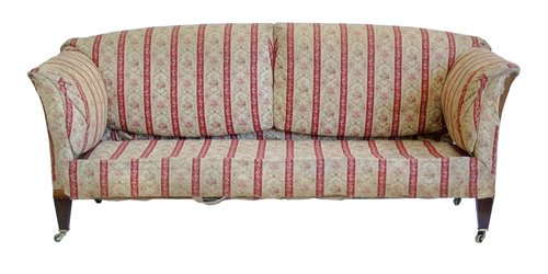 361 - Late 19th century upholstered sofa, Howard & Son's Ltd.