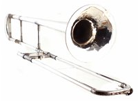 Lot 49-Hawkes & Sons excelsior class A trombone with case