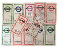 Lot 50-London 1932 Tramways routes time table together with eleven others from 1951 - 1964