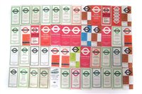 Lot 51-Forty Seven London bus timetables circa 1950's through to 1970's.