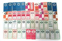 Lot 42-Forty Seven London bus timetables circa 1950's through to 1970's.