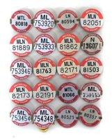 Lot 28-Twenty bus / public transport  service drivers'  license badges.
