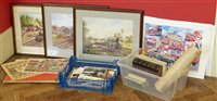 Lot 34-Group of Steam locomotive / trains and bus prints, and period photographs.