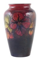Lot 79 - Moorcroft flambe vase, decorated with Clematis pattern