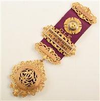 Lot 214-Boxed 9ct gold RAOB medallion