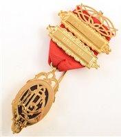 Lot 237-Small 9ct gold RAOB medallion