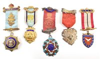 Lot 325 - Fifty eight RAOB silver, silver gilt and enamelled medallions