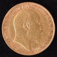 Lot 48-King Edward VII, Half-Sovereign, 1908.