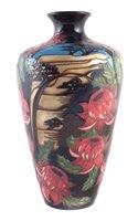 Lot 63-Moorcroft vase decorated with Scarlet Waratah pattern