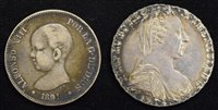 Lot 55-Austrian silver coin and Spanish silver coin (2).