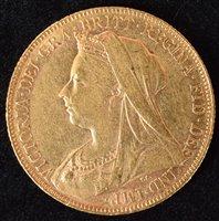 Lot 46-Queen Victoria, Sovereign, 1901.