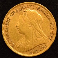 Lot 28-Queen Victoria, Half-Sovereign, 1896.