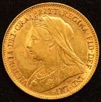 Lot 37-Queen Victoria, Half-Sovereign, 1901.