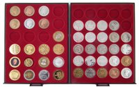 Lot 12-Two trays of modern collectable and reproduction coins.
