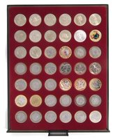 Lot 39-Tray of Royal Mint, Queen Elizabeth II, Two Pounds proof and circulated coins.