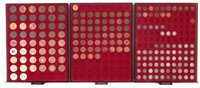 Lot 38-Three trays of assorted coins (3).