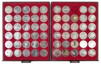 Lot 15-Two trays of Queen Elizabeth II Commemorative coins including Five Crowns etc.